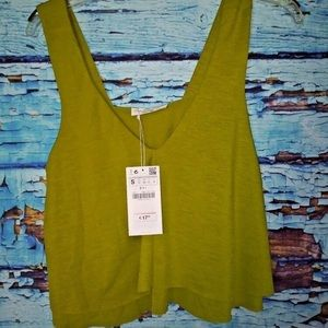 Cropped bench green top